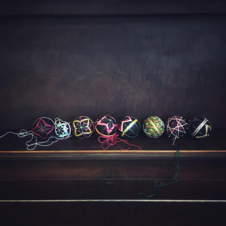 Temari balls from workshop